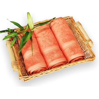 bambusový ručník 50x100 cm lososový
