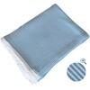 Pletená deka IMPERIO 130x170 cm modro-bílá
