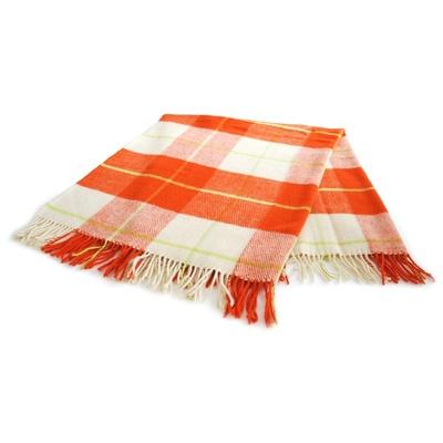 Vlněná deka ROMA 130x170 cm oranžová