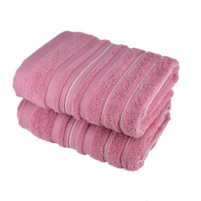 Ručník STRIPES růžový 50x90 cm