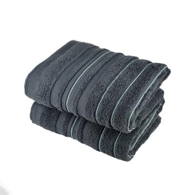 Ručník STRIPES šedý 50x90 cm
