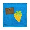 Utěrka VALENTINI s výšivkou ovoce modrá
