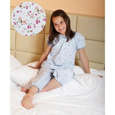Dívčí pyžamo bílo-růžové