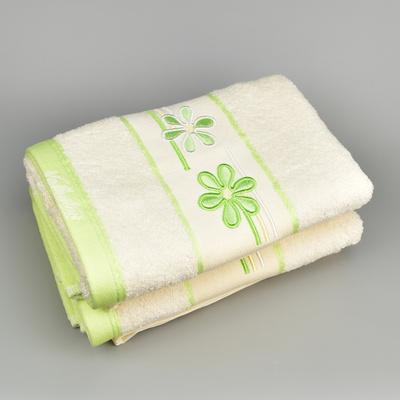 Ručník VALENTINI 50x100 krém/zelený